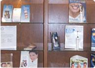 Literature shelves